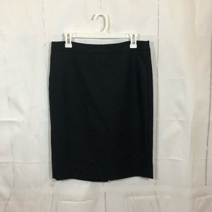 J. Crew Black Wool NO. 2 Pencil Skirt 8